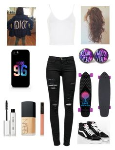 """""""#skate"""" by audreehistired ❤ liked on Polyvore featuring mode, Frame Denim, Topshop, Samsung, Bobbi Brown Cosmetics, NARS Cosmetics, Illamasqua et Vans"""