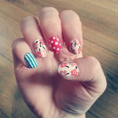 Flowers, dots and stripes