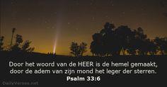 Psalmen 33:6 - dailyverses.net