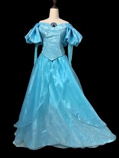 Color: Blue This+version+is+Elsa+dress+blue+color. llace+up+design+can+fit+your+body+shape+perfectly. Please+write+your+measurement+in+the+order+note 1.+bust 2.waist 3.+hip 4.+shoulder+to+shoulder 5,+height+from+head+to+toe 6.+arm+length