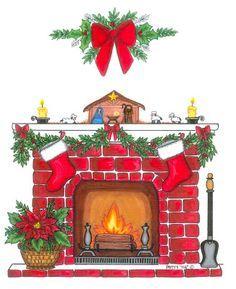 christmas fireplace clip art clip art christmas 1 clipart rh pinterest com Christmas Fireplace Clip Art Black and White Christmas Fireplace Mantel