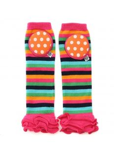 Happy Knees Ruffled Legwarmers - Sprinkle Party - Crawler Kneepad Legwarmers with Ruffles , $16 www.bellatunno.com