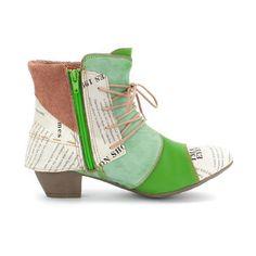TMA Maia Echtleder Stiefeletten in Cowboy-Look. Kräftige Farben, mit Einsätzen im Vintage-Design. Ausgefallen, stylisch schön, leicht und super beque… Schuster, Ankle Boots, High Tops, High Top Sneakers, Booty, Elegant, Super, Outfit, Vintage
