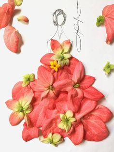 """""""When Fashion Meets Nature"""" by Laurence Aquino Arte Fashion, Fashion Collage, Floral Fashion, Creative Pictures, Creative Art, Flower Petals, Flower Art, Flower Girls, Dame Nature"""