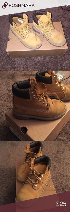 Kids timberland boots Normal wear but in good condition Timberland Shoes Boots