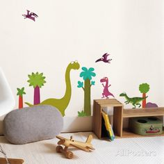 Dinosaur Wall Decals.  Adorable in any little Boy's Bedroom.