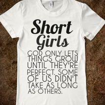 Short Girls Juniors T-Shirt from Glamfoxx Shirts