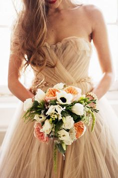 Bouquet and the dress
