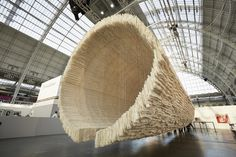 Art :::  Monumental Installation Constructed from Rice Paper by Chinese abstract artist Zhu Jinshi