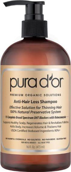 PURA D'OR Anti-Hair Loss Premium Organic Argan Oil Shampoo (Gold Label), 16 Fluid Ounce Price: $30.82