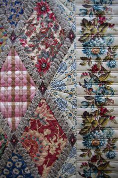 Jane Austen Quilt - detail setting diamonds & border