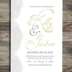 Vintage+Wedding+Invitation++DIY+Printable+Lace+by+StyledforPaper,+$30.00