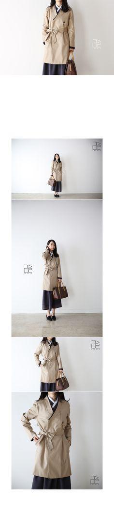 Women trench durumagi coat - 리슬