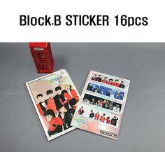 K-Pop Block.B Photo Sticker 16pcs (Pack of 16) Korean Singers Goods 16Sheets