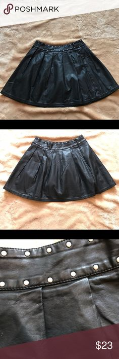 Silence and noise Faux leather studded skirt Urban Outfitters Faux leather skirt like new no rips stains or tears Urban Outfitters Skirts Mini