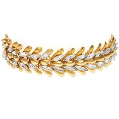 Elizabeth Cole Women's Eden Choker - Gold (1460 MAD) ❤ liked on Polyvore featuring jewelry, necklaces, gioielli, gold, gold necklace, gold jewelry, gold jewellery, swarovski crystal choker necklace and 24 karat gold necklace