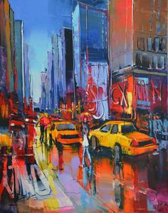 Eric Le Pape, Trafic NY, 30F 92x73 cm