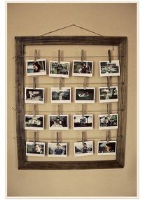 photo inspiration- maybe do a photo collage on the wall with frames instead?