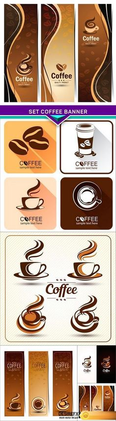Find your Grapfix Desire With US http://www.desirefx.me/set-coffee-banner-5x-eps/