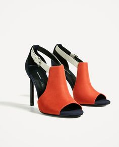 Image 4 of OPEN HIGH HEEL SANDALS from Zara