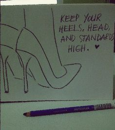 This is sooo me!! Especially the heels!