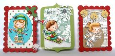 Pocket Insert Holiday Cards  : Your Next Stamp - Holiday Kids, Jingle Bell Border Die, Holiday Die Set, Journal Card Insert Dies