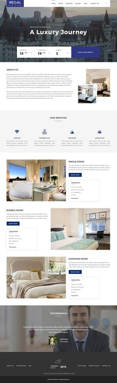 Regal is premium PSD template exclusively built for hotel, #hostel, private accommodation, bed and breakfast or #resort #websites. Download Now!