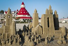 Vintage Beach Weddings, Hotel Del Coronado, Sand Art, At The Hotel, Yahoo Images, Barcelona Cathedral, San Diego, Image Search, Castle