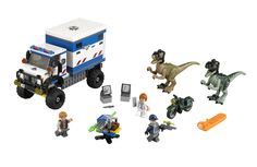 """One of the upcoming Jurassic World Lego sets.  This is the third time Chris Pratt has been a Lego minifigure (after Emmet Brickowski and Peter """"Star-Lord"""" Quill)."""