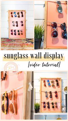 29 Ideas For Home Office Organization Wall Display Diy Wand, Wall Storage, Diy Storage, Storage Ideas, Food Storage, Sunglasses Storage, Sunglasses Holder, Office Wall Organization, Brunch