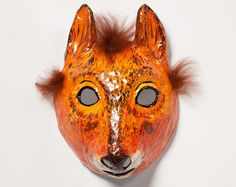 paper mache squirrel Halloween mask by Jevgeniamasks on Etsy