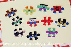 Love and Lollipops: Puzzle Superhero Craft