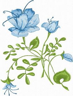 Free Embroidery Designs | Blue Rose free machine embroidery design