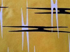 STUNNING 1950s VINTAGE COTTON BARKCLOTH FABRIC MID-CENTURY MODERN/ ATOMIC DESIGN