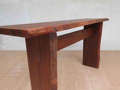 Live Edge Slab Sofa Table - Rosita Walnut – Masaya & Co. Long Sofa Table, Sofa Tables, Couch Table, Console Tables, Desk Behind Couch, Rustic Hallway Table, Hallway Tables, Homemade Sofa, Steel Sofa