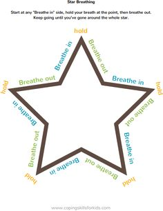 Breathing Printables Free visuals to help teach deep breathing. There are 4 simple breathing techniques: square breathing, figure 8 breathing, star breathing and triangle breathing. Mindfulness For Kids, Mindfulness Activities, Mindfulness Practice, Counseling Activities, Therapy Activities, School Counseling, Therapy Ideas, Coping Skills Activities, Play Therapy