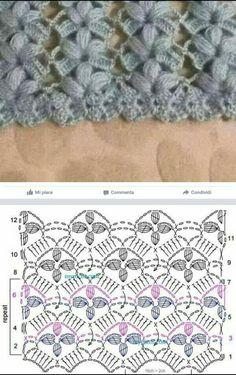 Best 12 Knitting – Clara Ramirez – Crochet stitches patterns – – Page 295619163040776521 – SkillOfKing. Crochet Diagram, Crochet Chart, Crochet Motif, Crochet Lace, Free Crochet, Crochet Stitches Patterns, Crochet Designs, Knitting Patterns, Diy Crafts Knitting