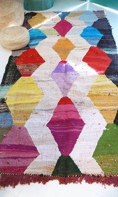 Vintage Moroccan Kilim BOUCHEROUITE Rug por lacasadecoto en Etsy