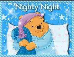 Good night sweet dreams my friend! Winnie The Pooh Pictures, Cute Winnie The Pooh, Winnie The Pooh Quotes, Winnie The Pooh Friends, Cute Good Night, Good Night Gif, Good Night Sweet Dreams, Good Night Greetings, Good Night Messages