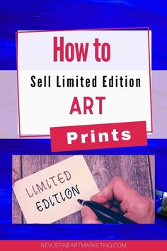 How To Sell Limited Edition Art Prints - Everything you need to know about selling limited edition prints of your original artwork. #prints #artists via @davenevue Business Articles, Business Tips, Online Business, Selling Art Online, Online Art, Small Business Entrepreneurship, Where To Sell, Art Market, Art Blog