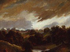 John Constable - Hampstead Stormy Sky (oil on canvas, 1814)