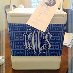 best hostess | birthday | thank you | wedding | insert occasion here gift ever! #keepingitcool #travelswell #monogrammedcooler #personalizedcooler #weddinggift #hostessgift #birthdaygift #thankyougift #meandredesign