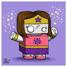 """Sprinkles has the ability to create stars in the night sky, just by waving her hands. Oh, and she's AWESOME. Print measures 4.75x4.75"""" and comes with a 8x8""""grey pre-cut mat board for easy framing. Each print comes signed."""
