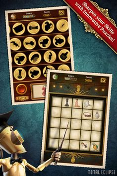 Clockwork Brain - Challenge your Mind with Fun Puzzles! ($0.00 plus in-app purchases for additional packs) Discover a series of unique mini-games especially created to test various cognitive abilities such as visual, spatial, logic, language, arithmetic, and memory. Everything in the game has been lovingly hand-painted with influences from Victorian Steampunk and Mayan art.     Sprocket, the robot, will be your guide! Let the games begin!