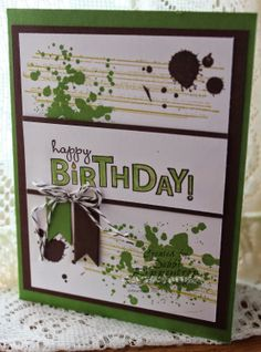 Gorgeous Grunge with Banner Punch or Banners Framelits - Stampin' Up! all the way.