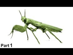 Origami Boxer Mantis tutorial (Manuel Sirgo) part ボクサーカマキリ Origami Insects, Boxer, Youtube, Moda Masculina, How To Make, Paper Envelopes, Boxer Pants, Boxers, Boxer Dogs