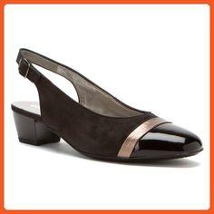 ara Women's Mimi Sandal,Black/Titan Metallic Nubuck,8.5 N US - Sandals for women (*Amazon Partner-Link)
