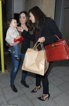 Three generations: Tamara Ecclestone and her daughter Sophia headed out for a family dinner to mark her mum Slavica's 58th birthday