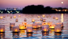 Water Lantern Festival is coming to light the water in San Diego. Come experience the Water Lantern Festival with your friends and family as the floating lanterns reflect messages of love, hope, and happiness upon the water. Don't miss this amazing event. Stuff To Do, Things To Do, How To Memorize Things, Mini Chalet, Water Lantern Festival, North Carolina, Week End En Amoureux, Floating Lanterns, Farm Gate