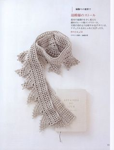 Japanese (?) crochet book with motifs, borders and patterns to produce a whole range of jewellery and clothes. Includes charts and step by step instructions.